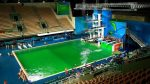#Rio2016:Olympians Forced To Compete In Green Colored Pool Water