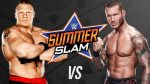 Wrestling: WWE Superstar Brock Lesnar  Destroys World Champion, Randy Orton In Epic Summer Slam Battle