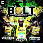 #Rio2016:History Made As Usain Bolt Comes From Behind And Wins Third Consecutive Gold In 100m