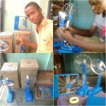 Impressive! Young Nigerian Builds Standing Fan That Can Last 19 Hours Without Electricity