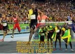 """""""I Am A Legend, Bask In My Glory!""""Usain Bolt As He Makes History By Completing 'Triple Triple', Anchors Jamaica To 4x100m Relay Gold"""