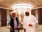President Buhari Recieves Nobel Laureate Prof.Wale Soyinka At Statehouse In Abuja