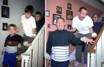 Brothers Re-Pose Photos Of Their Best Childhood Memories As A Gift To Their Mother On Her Birthday