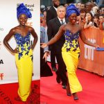 Asoebi Inspiration! Check Out Oscar Winning Actress Lupita Nyong'o's Beautiful Dress To The Premiere Of Queen Of Katwe At TIFF Yesterday