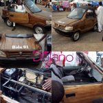 Nigerian  Man Drives Fully Functional Wooden Car From Niger State To An Expo In Abuja( Photos)