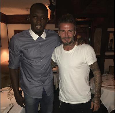 Usain Bolt Hangs Out With David Beckham