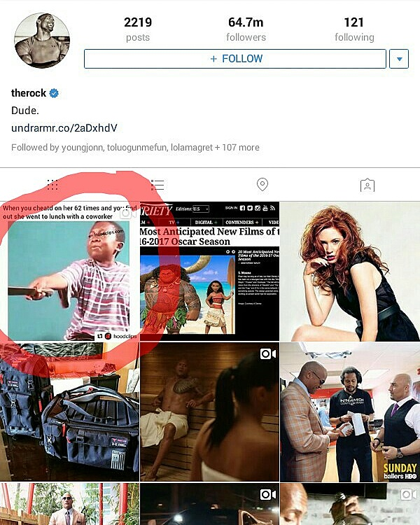 """Wrestling Superstar -The Rock Posts Funny Clip Of Chinedu Ikedieze On His Instagram Timeline, Says 'its Hilarious""""'"""