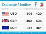 Exchange Rate For 1st September 2016