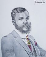 Check Out This Beautiful Pencil Drawing A Medical Student  Fola David Presented To Jidenna