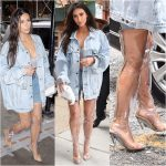 Ladies Will You Rock This? Check Out Kim Kardashians Tranparent Boots From Yeezy Season 4 Collection