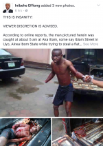 Jungle Justice: Man Gets Hand Chopped Off For Attempting To Steal Television In Akwa-Ibom (Graphic Photos)