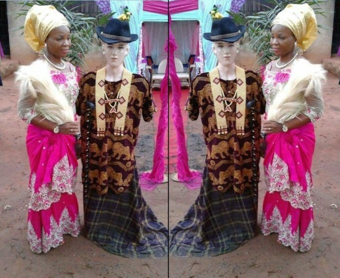 Woman Marries Mannequin At Her Traditional Wedding To Represent Her Boo Based Overseas