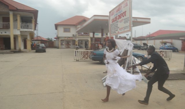 Drama In Delta As Bride Runs Out Of Wedding Reception, Rejects Husband