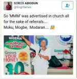 Social Media Uproar Over Advertisement Of MMM Money Scheme In Redeem Church (Photo)