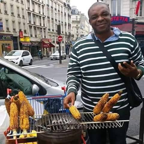 Be Inspired: See Anambra Man Who Roasts Corn For A Living In Dubai
