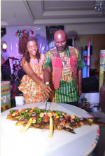 Repping Africa-Check Out Actor Sam Dede's Unique Birthday Cake
