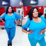 Actress Eniola Badmus Looking Trim And Beautiful In Blue