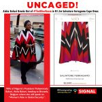 Mrs Aisha Buhari's Colorful Salvatore Ferragamo Cape Dress Is Valued At N1.2 Million
