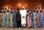 Photos: President Buhari Meets With Released 21 Chibok Girls