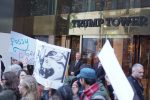 LOL: Women Form Human Chain Outside Trump Towers In New York Singing 'Pussy Grabs Back!'