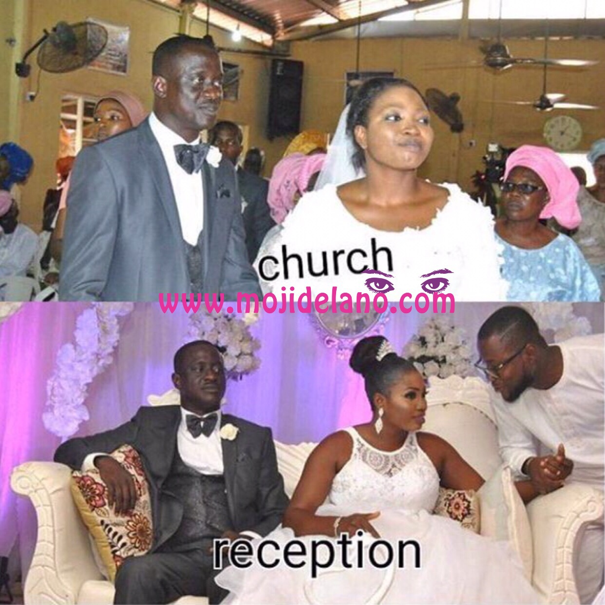 Transformation! See How MFM Bride Went From Basic During Church Service, To Chic During Reception(Photos)