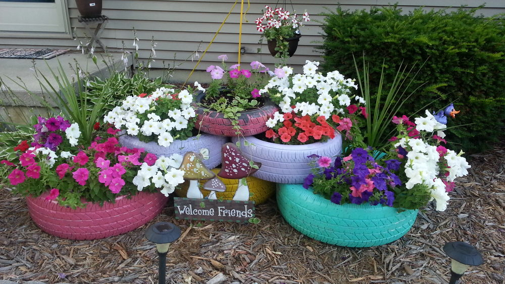 ingenious ways of using old tires to make furniture mojidelano com - Garden Ideas Using Old Tires