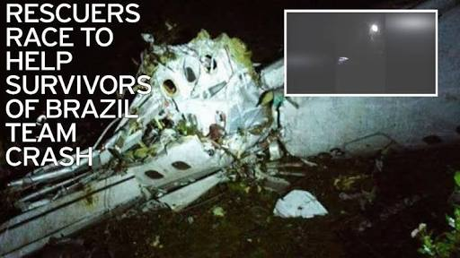 81 Passenger Plane Carrying Brazilian National Football Team Has Crashed In Columbia, 6 Survivors Have Been Recovered So Far