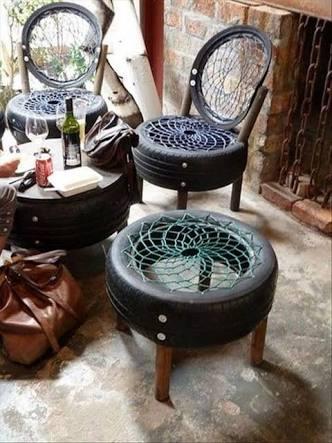 Ingenious Ways Of Using Old Tires To Make Furniture