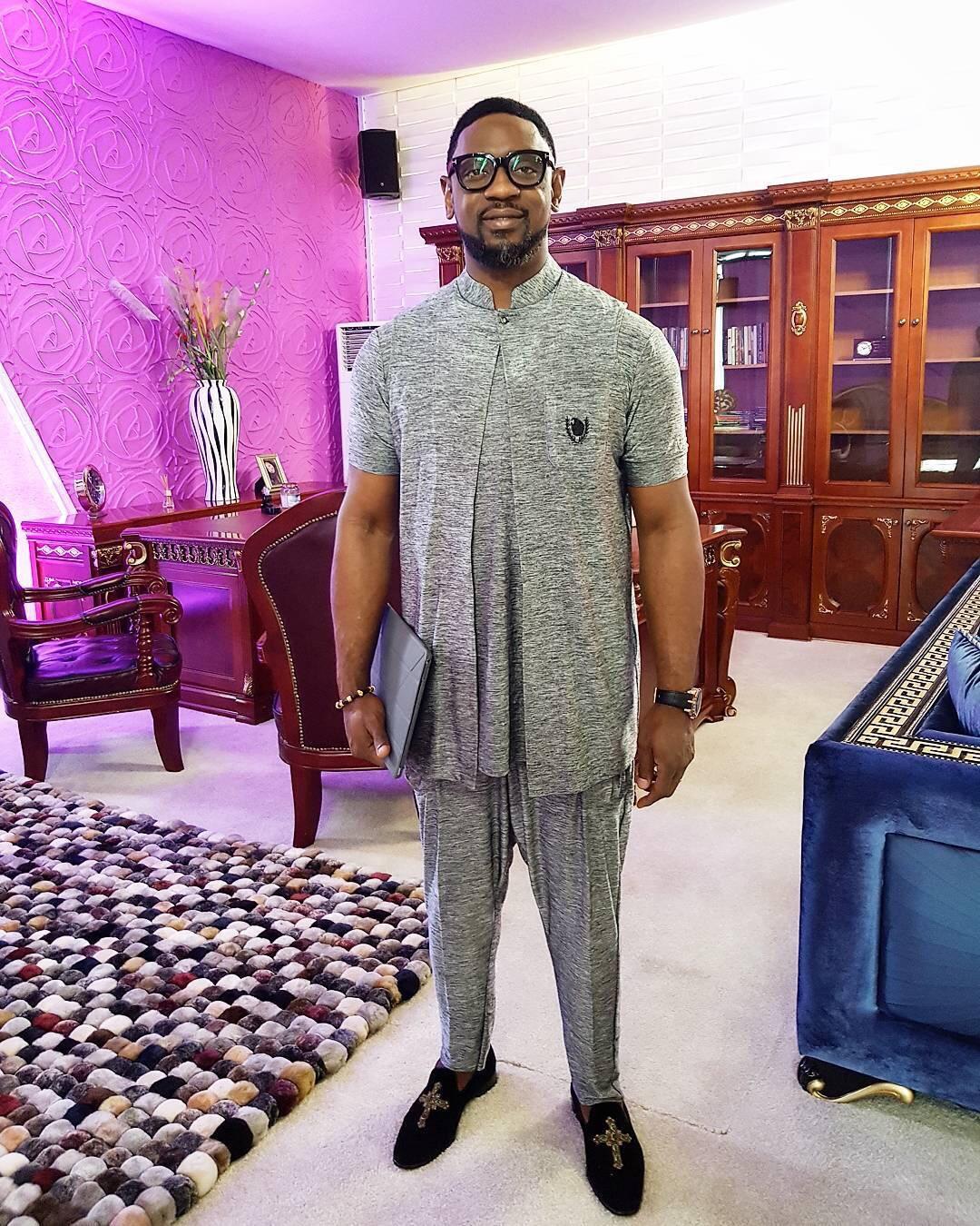 Sunday Vibes: Pastor Biodun Fatoyinbo Of COZA Rocking An Outfit By Mudi