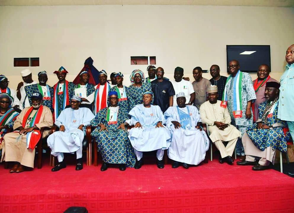 Photo Speak:President Buhari In For APC Mega Rally Ahead Of Governorship Elections