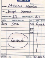 Endtime Things: See Receipt Issued By Sex Worker