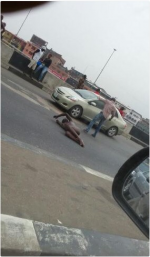 Man Causes Commotion After Lying  Naked On Major Road To Be Crushed By Vehicles