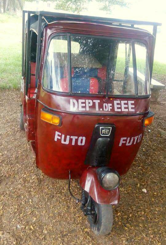 FUTO University Undergraduate Builds Solar-powered Tricycle (Keke Napep)
