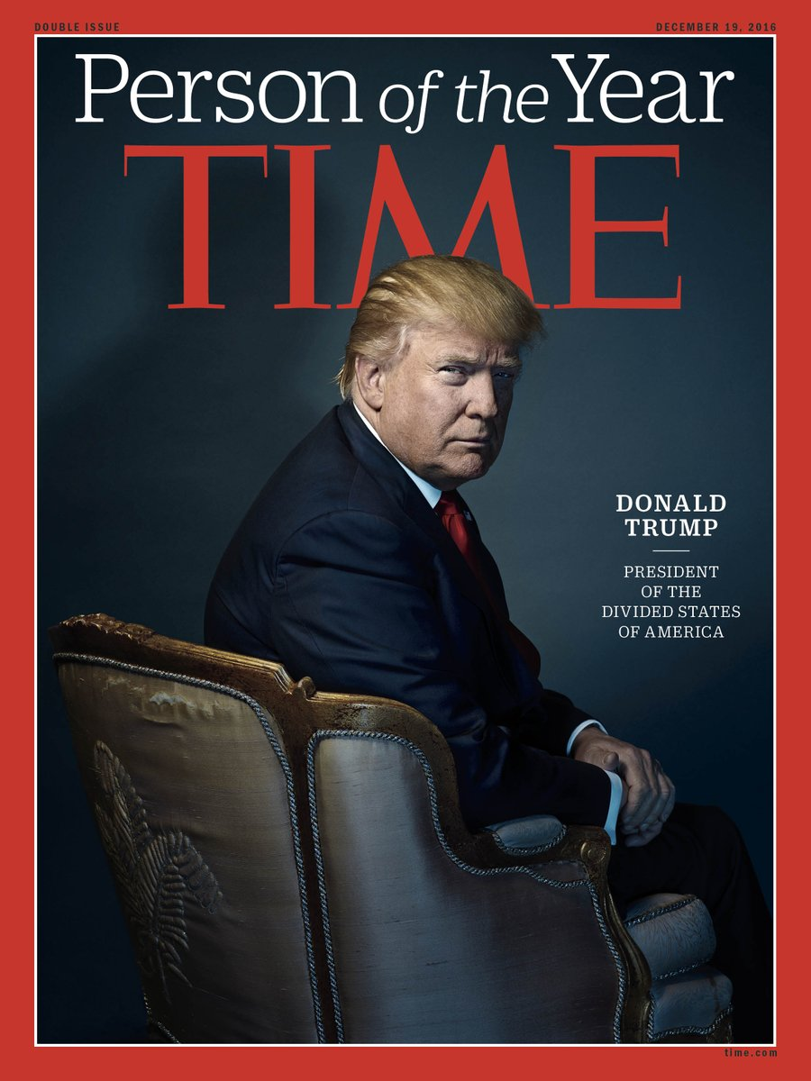 2016 TIME Magazine's Person Of The Year Is Donald Trump