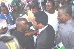 "PHOTOS: Ex-President Jonathan Smiles As His Security Men ""Brutalize"" Reporter"