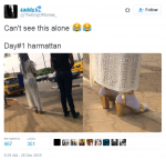 HILARIOUS! See How A Lady Dressed To Ward Off The Effects Of Harmattan [Pictures]