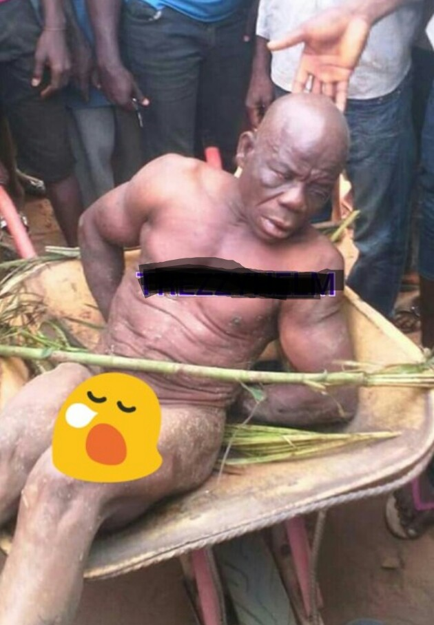 Man Disgraced And Paraded Naked For Attempting To Plant Charm In Neighbours Compound