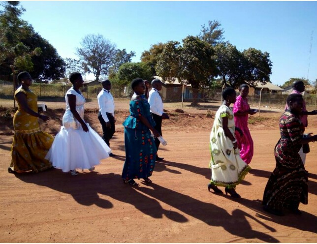 Ugandan Couple Decide To Save Money On Wedding Transportation By Trekking To Church On Their Big Day (PHOTOS)