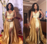 Ghanaian Socialite, Joselyn Dumas Flaunts 'famous' Sexy Curves At Ghana Movie Awards