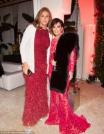 Kourtney Kardashian Shares Photo Of Parents, Kris & Caitlyn Jenner Happily Posing In Matching Red Dresses