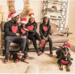 Comedian, Kevin Hart Poses With Lovely Family In Cute Christmas-Themed Pictures
