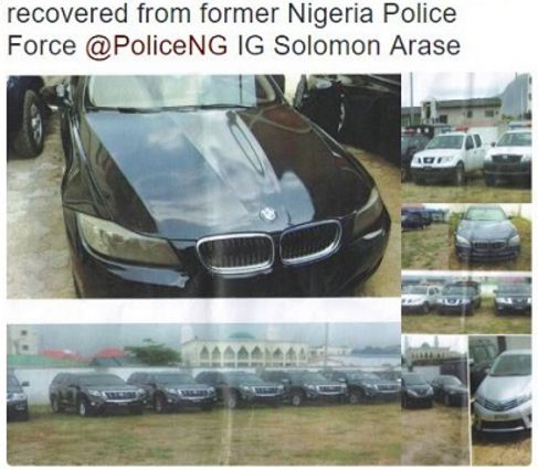 Check Out The Exotic Cars Recovered From Ex-Police IG Arase, His Deputies