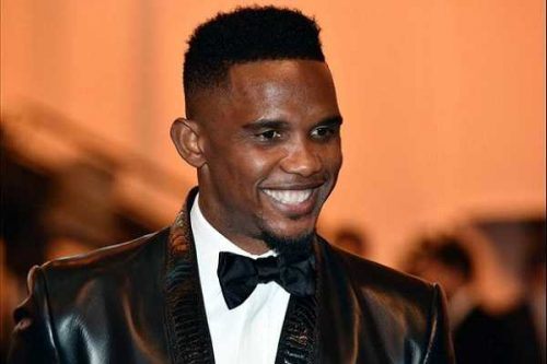 Samuel Eto'o , Cristiano Ronaldo Win Awards At The 2016 Global Soccer Award [pictures]