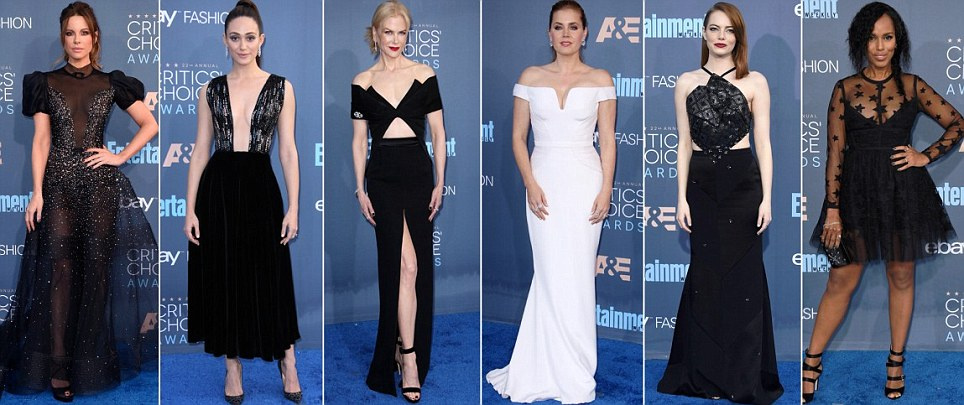 Black And White Glam! Check Out The Best Dressed Stars At The 2016 Critics Choice Awards +Full List Of Winners
