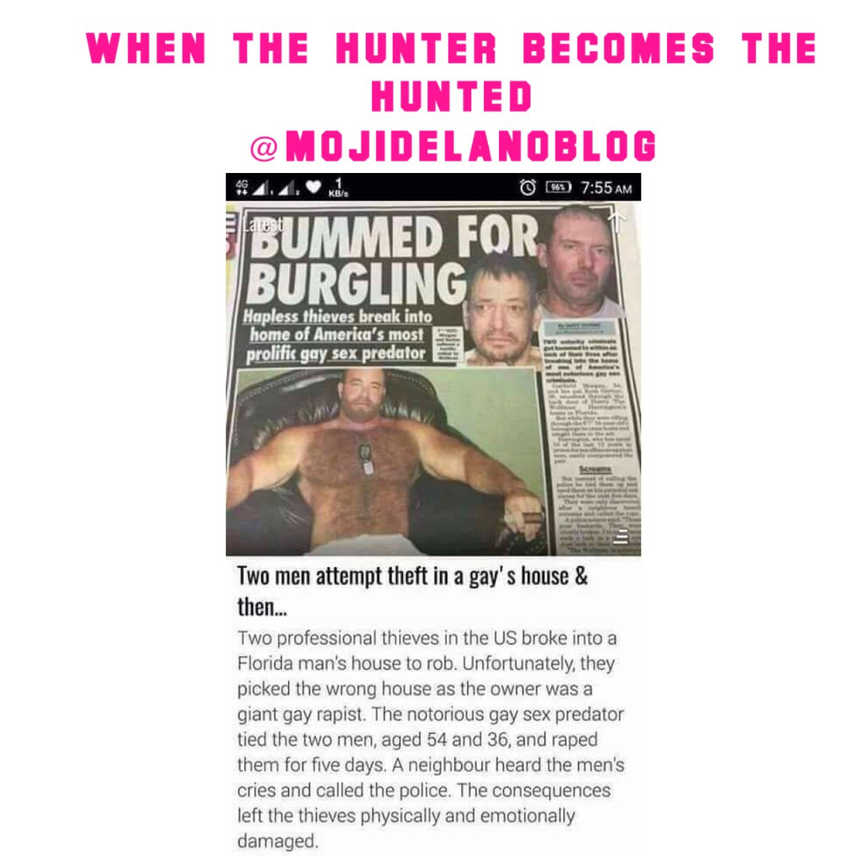 When The Hunter Becomes Tha Hunted…