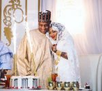 Zahra Buhari's Husband Ahmed Indimi Surprises Her With Birthday Cake At Their Wedding As She Turns 22