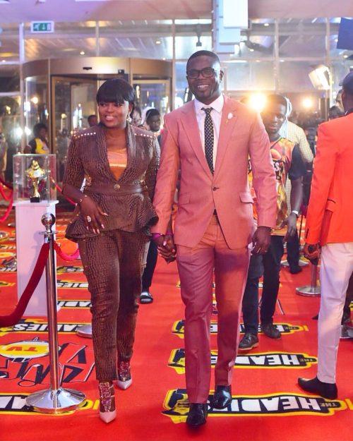 #TheHeadies2016:Funke Akindele-Bello And Husband Stun On The Red Carpet