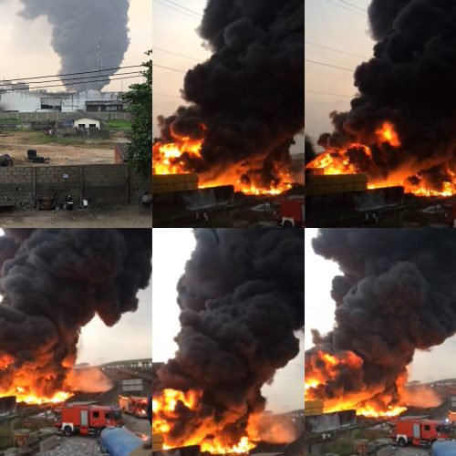 Christmas Day Tragedy: Fire Guts Nigerian Breweries In Lagos