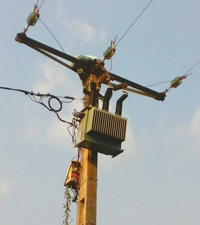 Photo Speak: 80 Year Old Woman Stuck On Electric Pole On Her Way Back From Witchcraft Mission