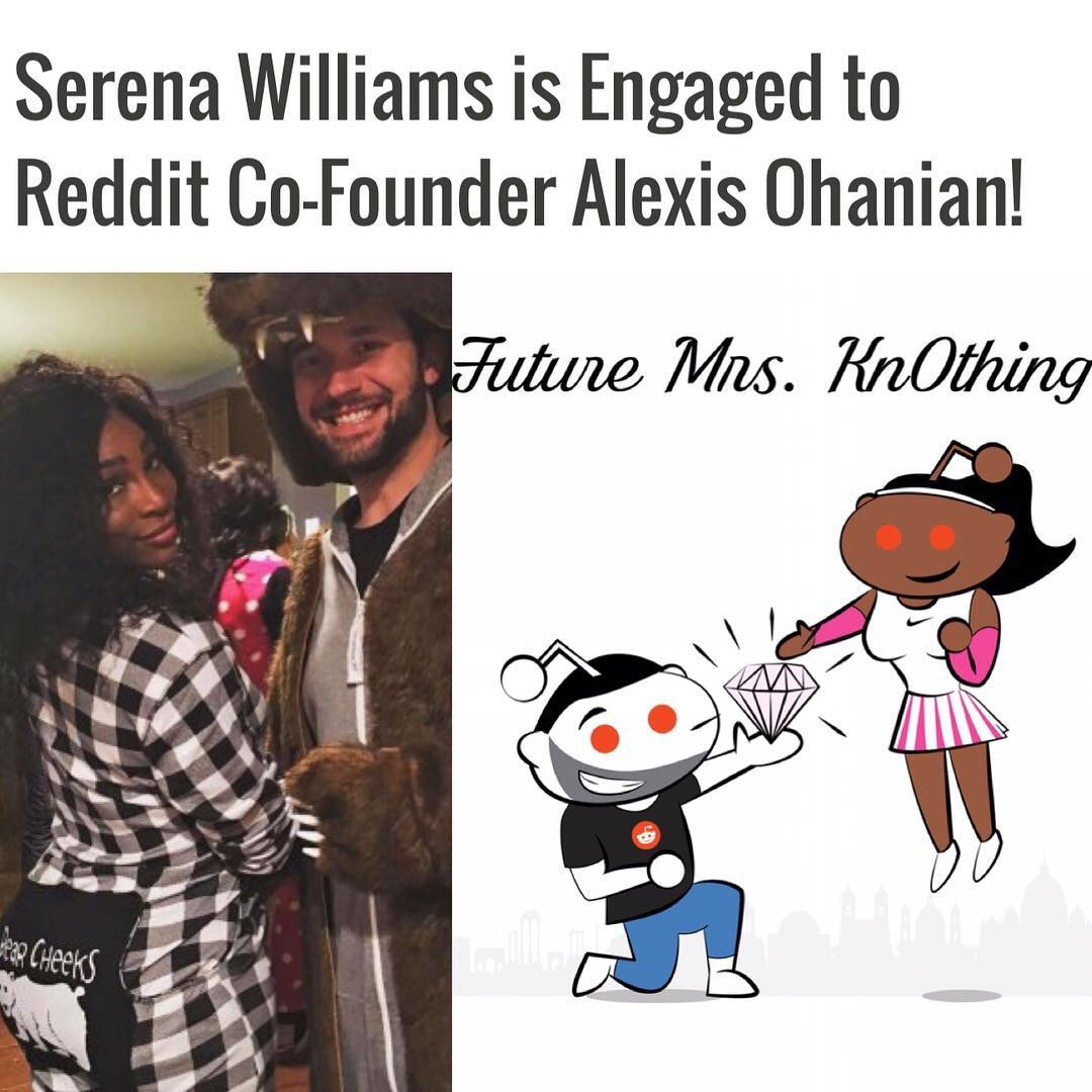 Super Star Tennis Player Serena Williams Now Engaged To Reddit CoFounder Alexis Ohanian